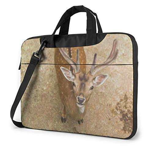 Laptop Messenger Laptop Bag 3D Deer Funny Face Shoulder Bag Briefcase Office Laptop Sleeve Case Satchel Tablet for Men Women