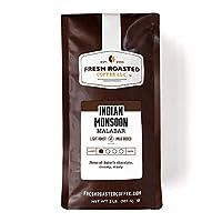 Fresh Roasted Coffee LLC, Indian Monsooned Malabar Coffee, Light Roast, Whole Bean, 2 Pound Bag