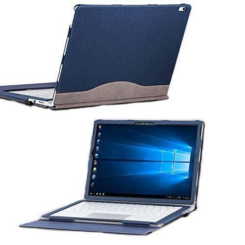 for Microsoft Surface Book 2 15 inch Cover Case, PU Leather Detachable Protective Folio Case for 15 Inch Microsoft Surface Book 2 (15