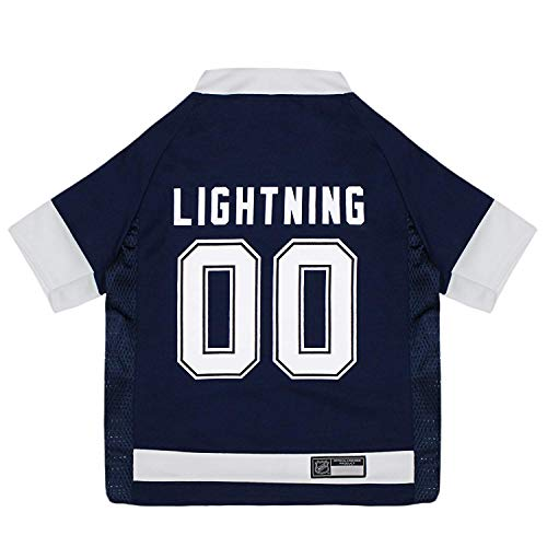 NHL Pet Gear Hunde-T-Shirt für Hunde und Katzen, Tampa Bay Lightning, X-Small Hockey Jersey, Tampa Bay Lightning
