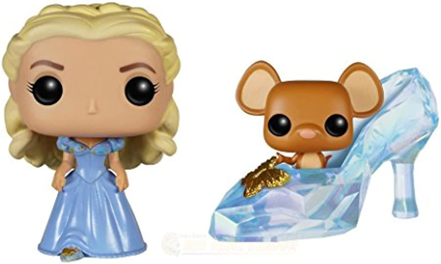 2015 Cinderella Live Action Movie Pop Figure Bundle with Gus Gus and Cinderella by Funko POP