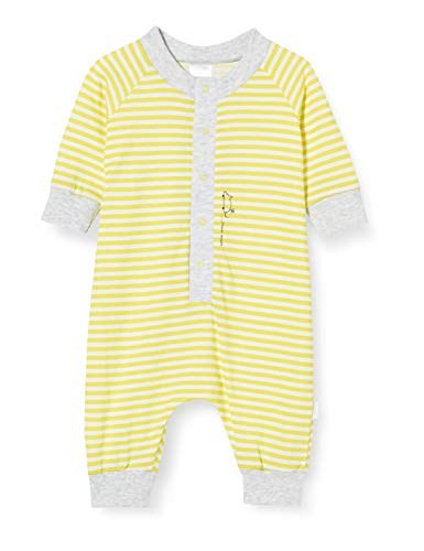 Schiesser Unisex Baby Yellow Mouse Anzug Schlafstrampler, Gelb (Gelb 600), 56 (Herstellergröße: 056)
