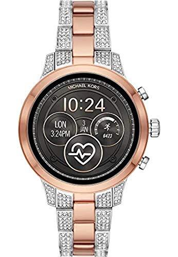 Michael Kors dames digitaal smartwatch polshorloge met roestvrij stalen armband MKT5056