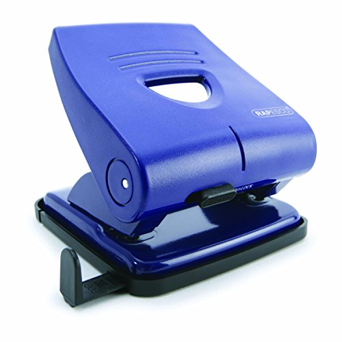 Rapesco 827-P - Perforadora de 2 agujeros, 30 hojas de capacidad, color Azul