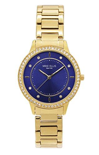 Mike Ellis New York Reloj analógico para Mujer de Cuarzo con Correa en Acero Inoxidable SM4612A