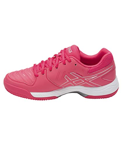Asics Gel-Game 6 Clay, Zapatillas de Tenis Mujer, Multicolor (Rouge Red/Silver/White), 37.5 EU