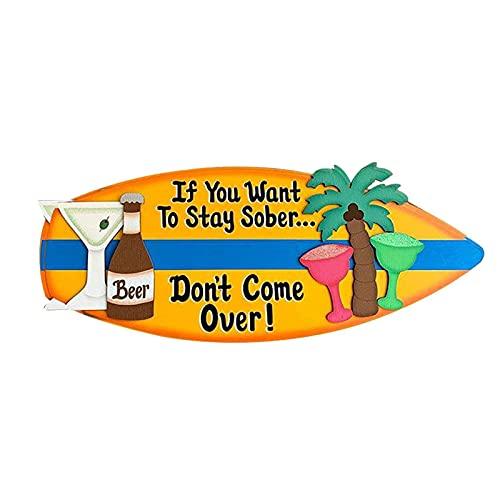 Estrella-L Tabla de surf para colgar en la pared, tabla de surf de madera, para colgar en la pared, decoración de la placa delicada para colgar en la pared, estilo elegante para barra