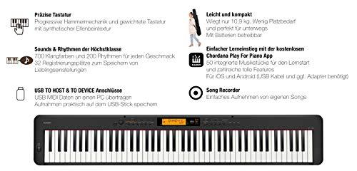 Casio CDP-S350 digitale piano met 88 gewogen toetsen, talrijke geluiden en ritmes