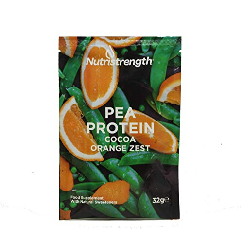 Vegan Protein Powder | Pea Protein Isolate with Naturally Enhanced Flavour | Soy & Lactose (Dairy) Free | 100% Plant Based Lean & Low Fat Nutritional Powder- Cocoa Orange Zest [Box of 12]