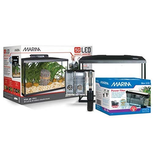 Marina LED Aquarium Kit, 5 Gallon