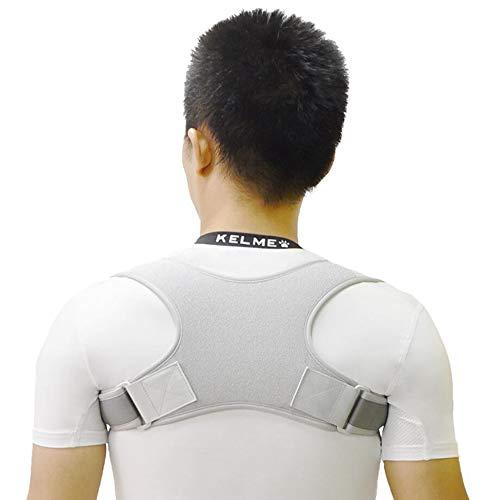 SGLL Körperhaltung Korrektor für Männer und Frauen, die Rückenstütze bieten, verbessern Thoraxkyphose,Gray