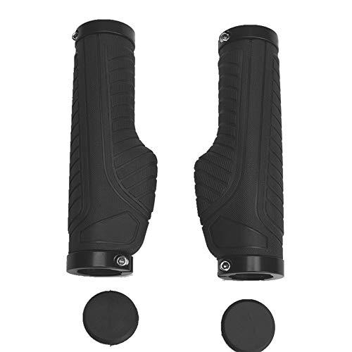 MHUI Bike Handlebar Grips, Non-Slip Bicycle Grips Rubber End Grips for MTB, BMX, Downhill, Folding Bike,Black