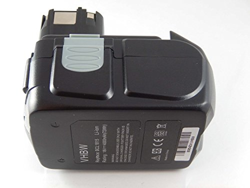 vhbw Li-Ion Batería 4000mAh (18V) para su herramienta electrónica Hitachi DV 18DCL, DV 18DL, DV 18DMR, DV 18DV, DV 18DVKS por BCL 1815, 1830