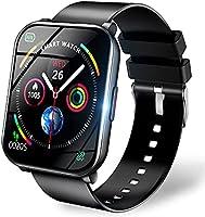 スマートウォッチ 【1.69インチ大画面 3色ベルト付き】 2021最新版 Bluetooth5.0 ストップウォッチ 活動量計 歩数計 目覚まし時計 スポーツウォッチ IP67防水 24種スポーツ smart watch メンズ レディース...