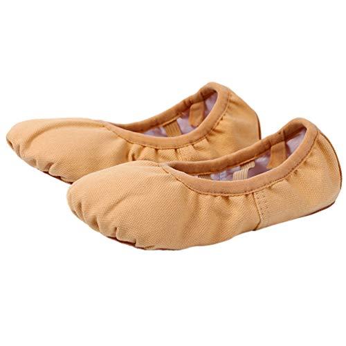 HEALLILY Zapatillas de Ballet Zapatillas de Suela Dividida Zapatillas de Baile Zapatillas de Práctica Zapatillas de Ballet de Suela Blanda sin Corbata para Mujeres Niñas Dama