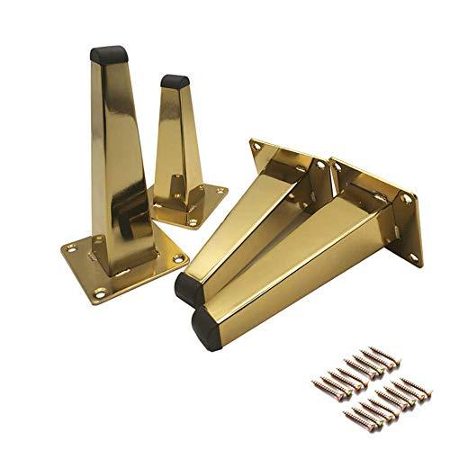 Vierkante metalen meubelpoten, vervangende poten voor bank salontafel badkamermeubel, doe-het-zelf hardware-accessoires, 4 stuks (130 mm / 150 mm / 170 mm) (afmetingen: 150 mm)