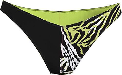 Calvin Klein Delta Brazilian Parte Inferiore del Bikini, Tigre Tangled Direct Verde, S Donna