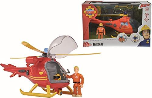 Simba Dickies Feuerwehmann Sam Hubschrauber mit Figur