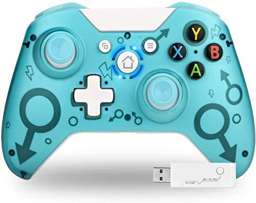 TechKen Mando inalámbrico Xbox One, sin Conector para Auriculares, Mando de Juegos de Compatible con Xbox One S/X PC (Verde)