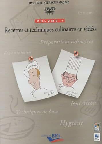 Recettes et techniques culinaires en vidéo : Volumes 1 et 2 - DVD-ROM