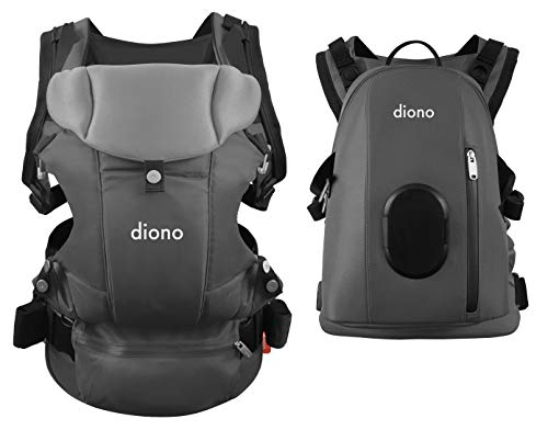 Amazing Deal Diono Carus Complete 4-in-1 Child & Baby Carrying System with Detachable Backpack, Light Gray