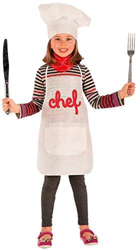 Carnival Toys 6665 – Set Déguisement, cuisinier enfant avec grembiale, chapeau et mouchoir