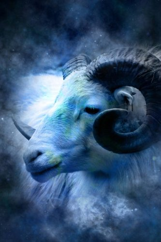 Cool Blue Zodiac Horoscope Aries the Ram Journal: Take Notes, Write Down Memories in this 150 Page Lined Journal