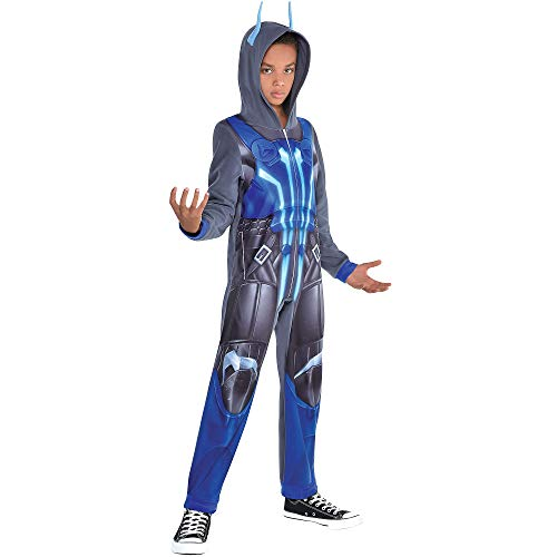 American Marketing Enterprise Fortnite Ice King Costume for Children, Size Medium, Features a Blue and Gray Jumpsuit
