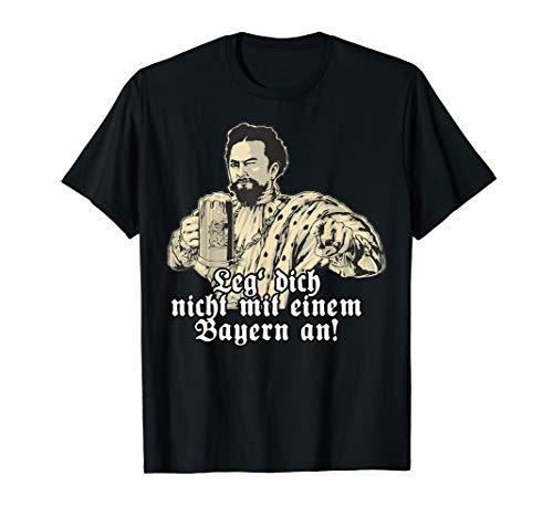 Bier T-Shirt Leg dich nicht - Koenig Ludwig mit Bier
