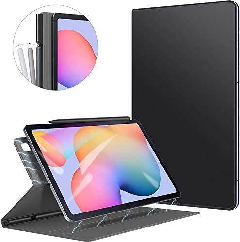 ZtotopHülle Hülle für Samsung Galaxy Tab S6 Lite,Ultra dünn Smart Magnetisches Abdeckung Schutzhülle mit Stifthalter,Automatischem Schlaf/Aufwach,für Samsung S6 Lite 10.4 Zoll 2020 Tablette,Schwarz