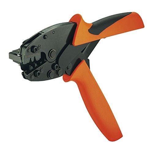 Preisvergleich Produktbild Legrand 9013400000 HTF 63 Crimpzange AWG 21-14 Crimpbereich 0.5-2.5 mm² Länge 200 mm,  Schwarz,  Orange