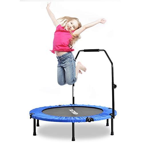 Merax Fitnesstrampolin - ø 102 cm, faltbar, höhenverstellbarer Griff