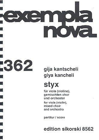 Styx : voor viola (viool), gem chor en orkester feest (oranje).