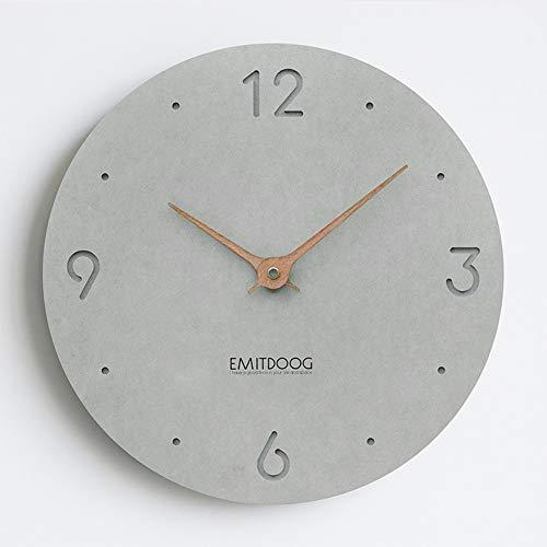 PANCY Wanduhr ohne Tickgeräusche die Uhr ohne Sekundenzeiger Absolute Ruhe lautlos 12