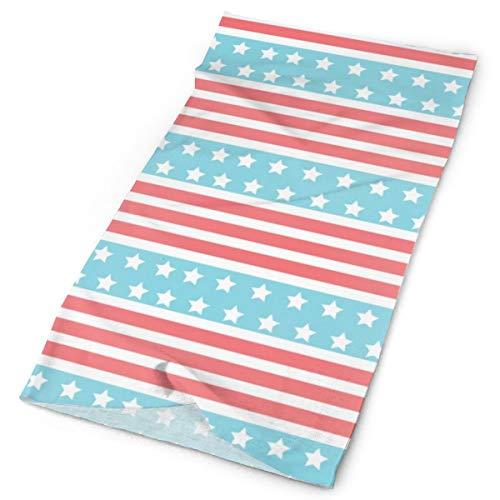 Bandanas multifuncionales con diseño de bandera americana, para actividades al aire libre