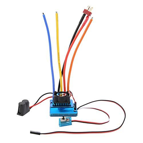ESC Controlador de velocidad electrónico Motor sin escobillas RC Crawler Impermeable A prueba de polvo 4 diferentes accesorios de corriente Caja de programa LED RC 1/10((80A))