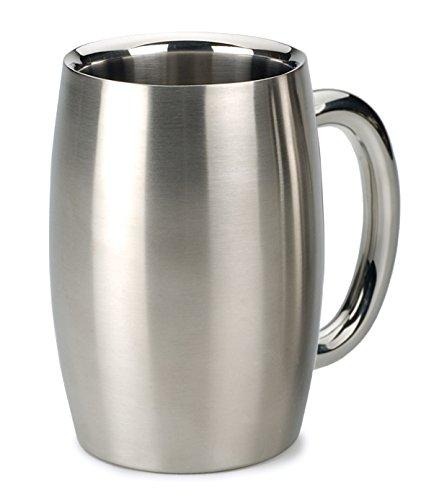 RSVP Endurance Stainless Steel Drinkware Double Wall Beer Mug