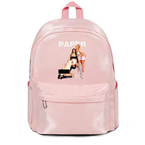 Men's Womens Nicki-minaj-paper-magazine- Backpack Printed Student Bags Nylon