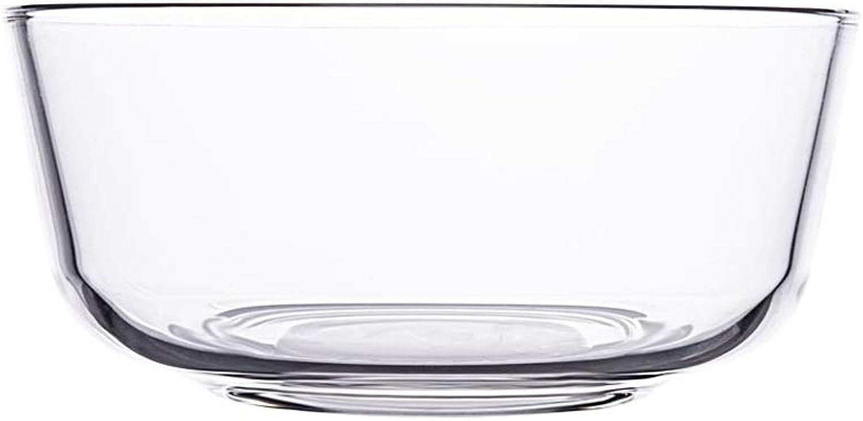 Xiao Mi Guo Ji- Tazón, tazón de vidrio transparente, vajilla práctica para el hogar, tazón para mezclar, tazón de postre, ensalada de verduras, tazón de sopa, tazón de fuente de gachas de avena, horno