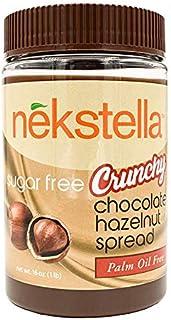 Nekstella - Crunchy Sugar Free Low Carb Natural Chocolate Hazelnut Spread - Palm Oil Free 16 oz jar …