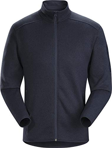 Arc'teryx Covert Cardigan Men's | Everyday Wool-Like Fleece | Tui Heather, Medium