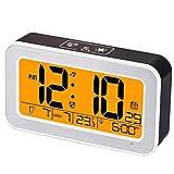 JZUO Despertador Electronico Reloj Despertador con Música Reloj Digital para Dormitorio con Atenuador Snooze Reloj USB Recargable con Alarma Dual Luz De Fondo De Prensa Inteligente