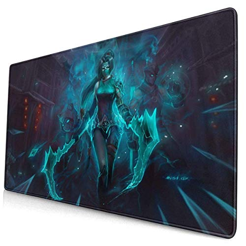 Mouse Pad,Ahri Akali Ninja Mouse Pad, Weiches, Langlebiges Gaming-Mousepad Für Home Office-Dekor,40x75cm