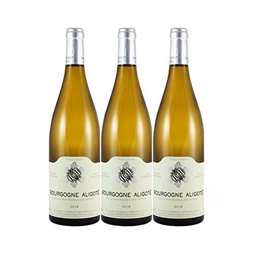 Bourgogne Aligoté Blanc 2018 - Domaine Bzikot - Vin AOC Blanc de Bourgogne - Lot de 3x75cl - Cépage Aligoté