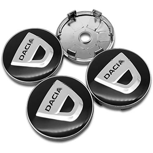 Mittelradabdeckung der Radkappe für Dacia Duster Logan Sandero Stepway Lodgy Mcv 2 Dokker, Radkappen-Radkappen-Radkappenabzeichen der Radkappen, Auto-Styling-Zubehör, 60 mm, 4-TLG