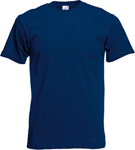 Fruit of the Loom Ss022m, T-Shirt Homme, Bleu (Bleu marine intense), Medium