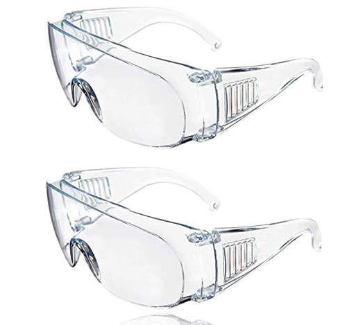 2 gafas de seguridad transparentes para equipos de protección personal, gafas transparentes antivaho y antiarañazos, para bricolaje, laboratorio, soldadura, molienda, ciclismo