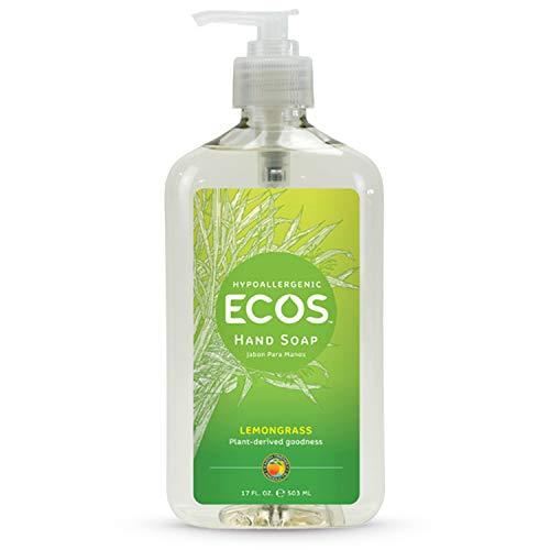 Earth Friendly Products ECOS Hypoallergenic Hand Soap, Lemongrass, 17 Fl Oz (Pack of 6)