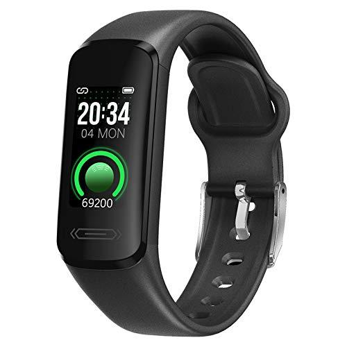 MagiDeal 0.96 Pulgadas V101 Deporte Bluetooth Presión Arterial Rastreador de Ejercicios Smartwatch Reloj Inteligente Termómetro de Pulsera para Android iOS Imp