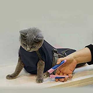 Cinf Cat Pet Supply Grooming Bag Restraint Bag Cats Nail Clipping Cleaning Grooming Bag, No Scratching Biting Restraint fo...